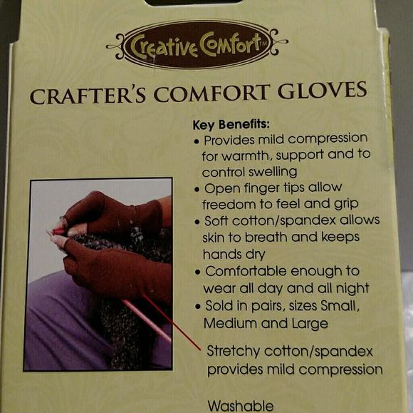 Dritz Creative Comfort Crafter/'s Comfort Gloves Brown Small
